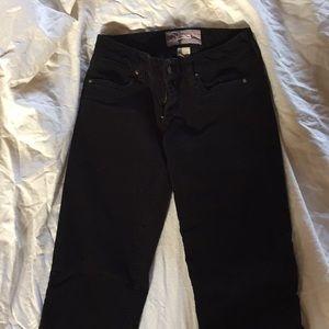 J Crew black bootcut corduroy pants Sz27